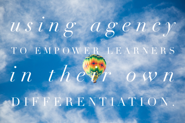 Is differentiation a teacher-driven endeavor? Should it be?
